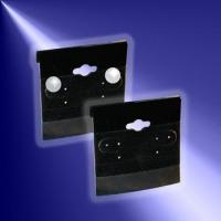Quality Countertop & Jewelry Displays Black Velvet Earring Cards for sale