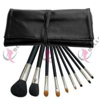 TB-9-07 Synthetic Hair 9pcs makeup brush set with case black