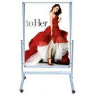 China china outdoor advertising product display stand with wheels poster stand on sale