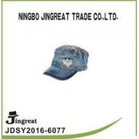 Quality custom high quality jean worn out washed flat cap for unisex for sale
