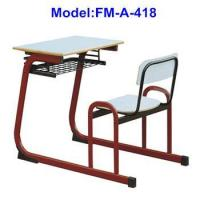 FM-A-418 School furniture primary school study table with attached chair
