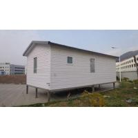 Quality White Eco Friendly Prefabricated Mobile Homes / Light Steel Log Mobile Homes for sale