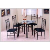 Best Kitchen & Dining Table 7333K BLACK DINING TABLE W/4 CHAIRS wholesale