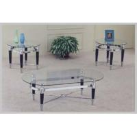 Best Living Room 3635BC MATTE CHROME AND BEACK 3 PIECE GLASS wholesale