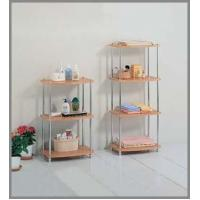Best Living Room 2108C CHROME WOOD TOP 4-TIER RACK wholesale