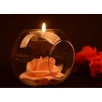 China Glass ball shape votive candle holder on sale