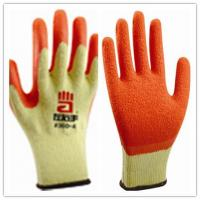Red Latex Palm Coated On 10 Gauge Yellow Cotton Shell, Crinkle Finish