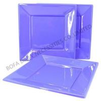 Party tableware set 7 inch & 9 inch plastic square purple plate