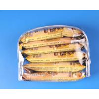 Quality D shape clear pvc bag with zip closure for sale