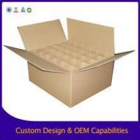 China Corrugated cardboard box RSC Brown Packing Carton Box with dividers for Sale on sale