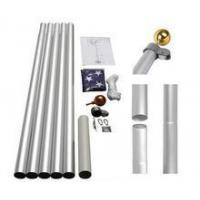 China America England international aluminum flag pole for flying on sale