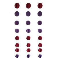 Quality PAPER CRAFT 3D Purple red round paper garland for sale