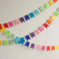 China PAPER CRAFT Colourful banner paper garland on sale
