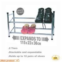 Best Stackable extension chromed plated iron shoe rack tower wholesale