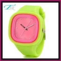 Quality 2016 silicone jelly watches no logo with interchangeable band and big face for teens Top selling for sale