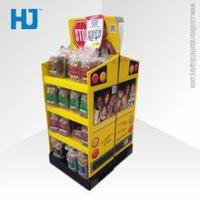 Buy cheap Supermarket Advertising Corrugated Cardboard Floor Display for Snacks from wholesalers