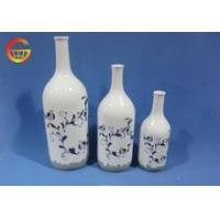 Quality Hot selling Porcelain chinese glossy flower vase decoration for sale