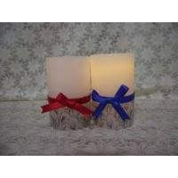 Best Elegant ribbon battery operated LED wax candles wholesale