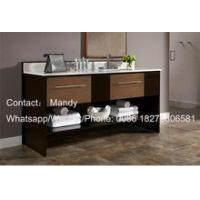 Quality MDF white painted particle board side 100cm size bathroom vanities for sale