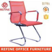 Quality orange steel mesh conference room chair sled base RF-V055A for sale