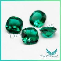 China New Fashion Green Emerald, 8*8 mm square cushion cut on sale