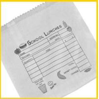 Quality Flat printed school lunch paper bag for sale