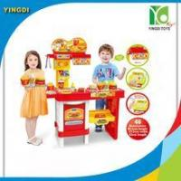 Quality Plastic fast food shop kitchen set toys kids for sale