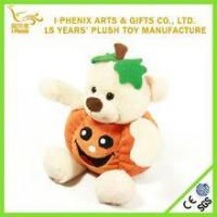 Quality Promotional Adorable Bear Baby Halloween Pumpkin Plush Toys Halloween Decoration for sale