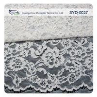Quality Silver Fashion Swiss Corded Jacquard Lace Fabric Brides Dresses for sale