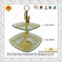 China Good Quality Crystal Iron Wedding Cake Stands With Hanging Crystals on sale