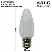China white led christmas lights c9 bulbs on sale
