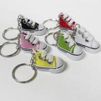 Quality Mini Canvas shoe key chain - Set of 6 for sale