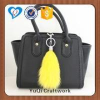 Quality Fashion bag accessories handbag fox fur tail keychain for sale