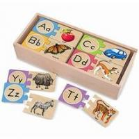 China Alphabet Wooden Puzzle Cards on sale