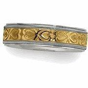 China 14K Two Tone Gold Design Band Ring on sale