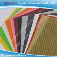 Quality Colored 3D carbon fiber sticker vinyl film for sale