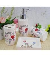Best White Bathroom Accessories Lovely Girl Ceramic Bath Accessories Sets H2801 wholesale