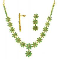 China 100% Natural emerald necklace set with earring @ paypal on sale