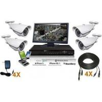 Buy cheap 4 Channel Outdoor Security System Kit from wholesalers