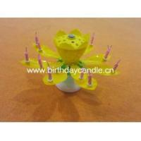 China A88008 lotus shaped rotating musical birthday candle on sale