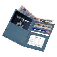 Leather Passport Wallet w 2 Currency Compartments & ID WindowItem #: 95153