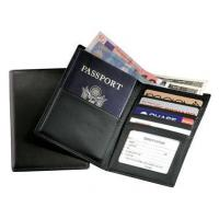 Leather Travel Wallet w Passport-Sized Pocket & Oversized Currency CompartmentItem #: 95146