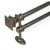 Quality Renovations Arts and Crafe Double Curtain Rod, Bronze, by Kenney Manufacturing for sale