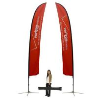 China Feather Flag Banner StandExtra Large Double Sided (w/ graphics) on sale
