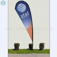 China Outdoor Flag Banner single needle feet outdoor feather flag banner stand on sale