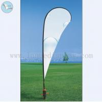 China Outdoor Flag Banner plastic spiral nail advertising feather flag banenr stand on sale