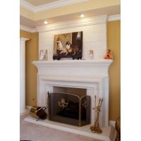 China Clermont Cast Stone Overmantel Fireplace on sale