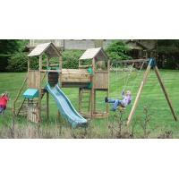 Buy cheap Climbing Frames Glastonbury Twin Towers Wooden Climbing Frame from wholesalers
