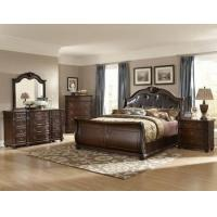 China 6 PC Bedroom Set Hillcrest Manor Queen beds, Nightstand, Chest, Dresser, Mirror on sale