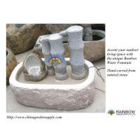China Water Garden Bamboo Cascading Granite Water Fountain on sale